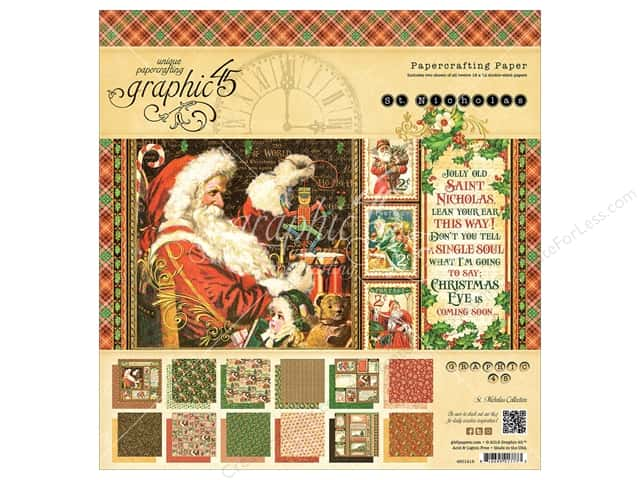 Graphic 45 12 x 12 in. Paper Pad St Nicholas