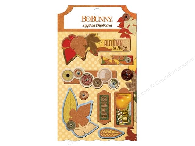 Bo Bunny Layered Chipboard Stickers Farmers Market