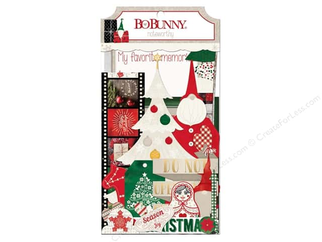 Bo Bunny Noteworthy Journaling Cards Merry & Bright