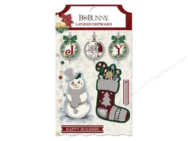 Bo Bunny Layered Chipboard Tis The Season