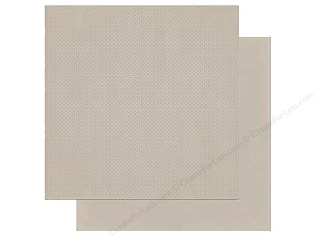 Bo Bunny 12 x 12 in. Paper Double Dot Taupe (25 sheets)