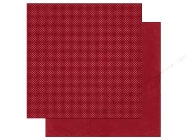 Bo Bunny 12 x 12 in. Paper Double Dot Cranberry (25 sheets)