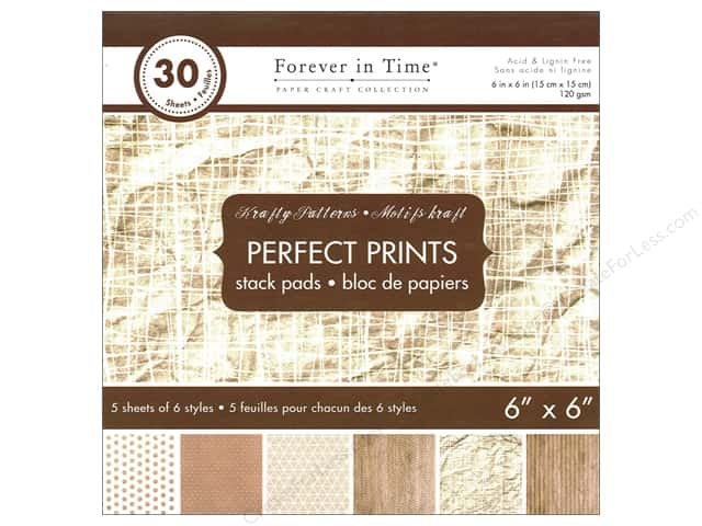 "Multicraft Stack Pad 6""x 6"" Perfect Prints Krafty Patterns"