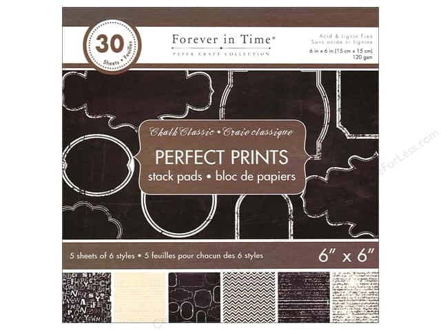 "Multicraft Stack Pad 6""x 6"" Perfect Prints Chalk Classic"
