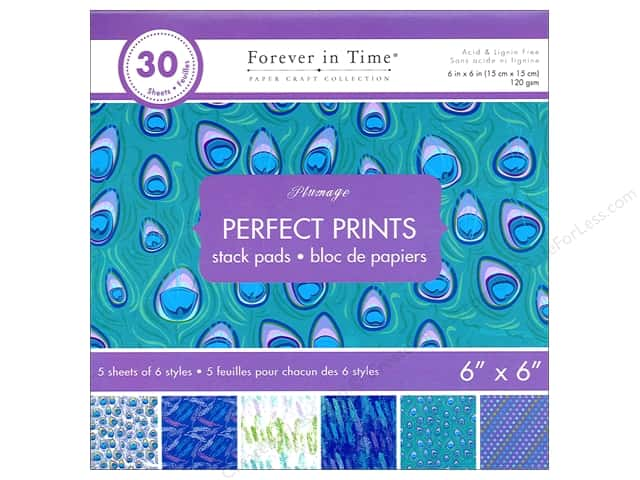 """Multicraft Stack Pad 6""""x 6"""" Perfect Prints Plumage"""