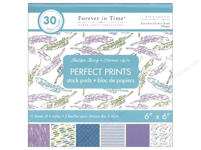 "Multicraft Stack Pad 6""x 6"" Perfect Prints Feather Fancy"