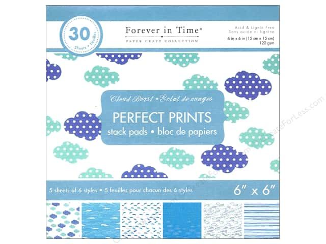 "Multicraft Stack Pad 6""x 6"" Perfect Prints Cloud Burst"