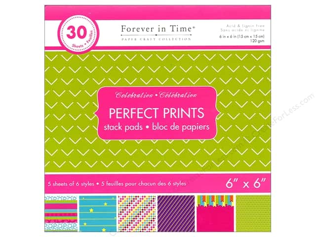 "Multicraft Stack Pad 6""x 6"" Perfect Prints Celebration"