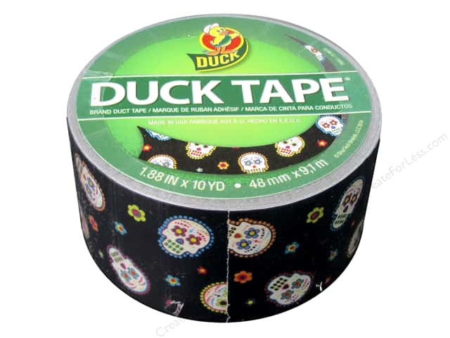 "Duct Brand Duct Tape 1.88""x 10yd Sugar Skull"