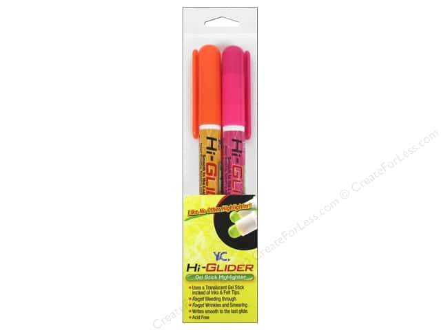 Y&C Hi-Glider Highlighter Orange/Pink 2pc
