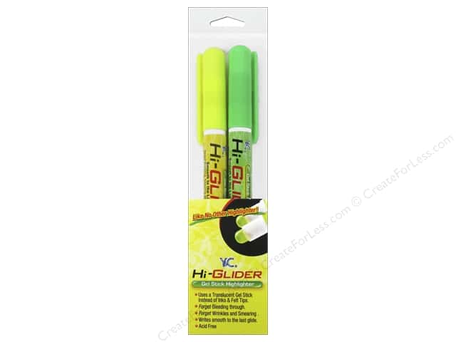 Y&C Hi-Glider Highlighter Yellow/Green 2pc