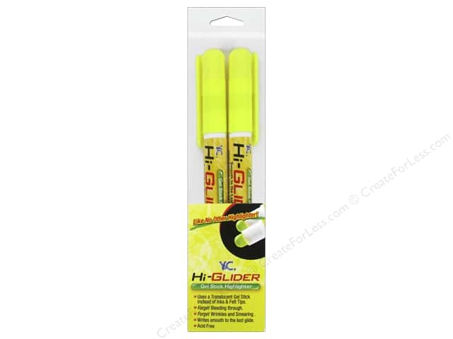 Y&C Hi-Glider Highlighter Yellow 2pc