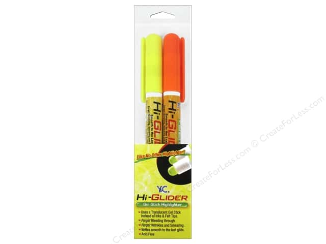Y&C Hi-Glider Highlighter Yellow/Orange 2pc