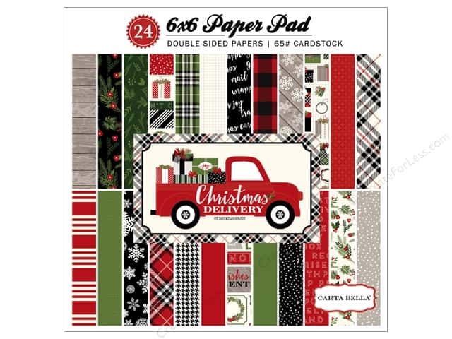 Carta Bella 6 x 6 in. Paper Pad Christmas Delivery