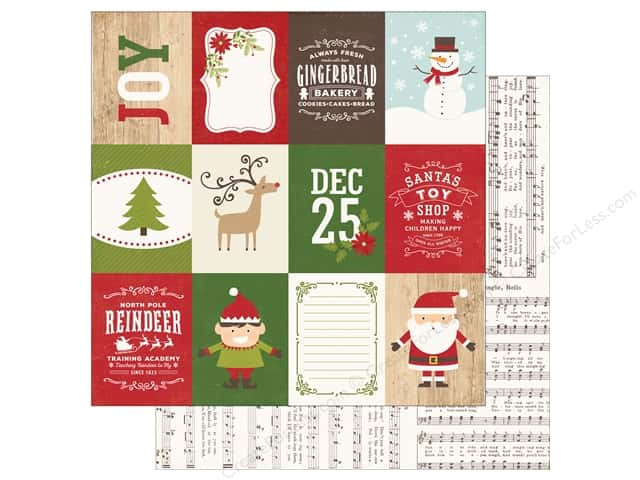Echo Park 12 x 12 in. Paper I Love Christmas 3x4 Journal Cards (25 sheets)