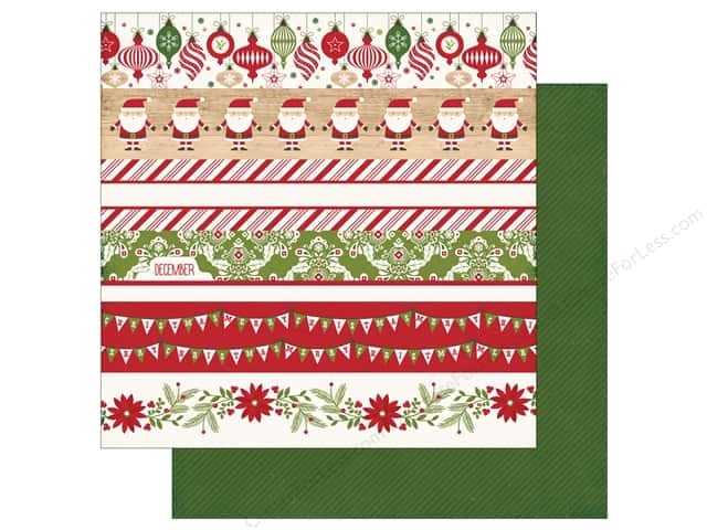 Echo Park 12 x 12 in. Paper I Love Christmas Border Strips (25 sheets)