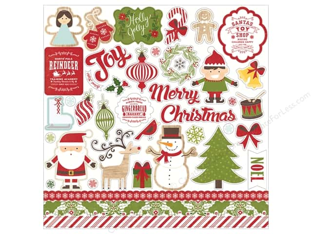 Echo Park Sticker 12 x 12 in. I Love Christmas Element (15 sets)
