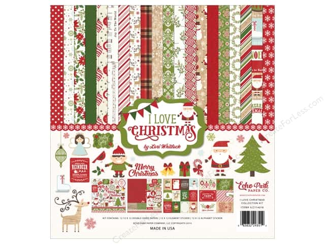 Echo Park 12 x 12 in. Collection Kit I Love Christmas