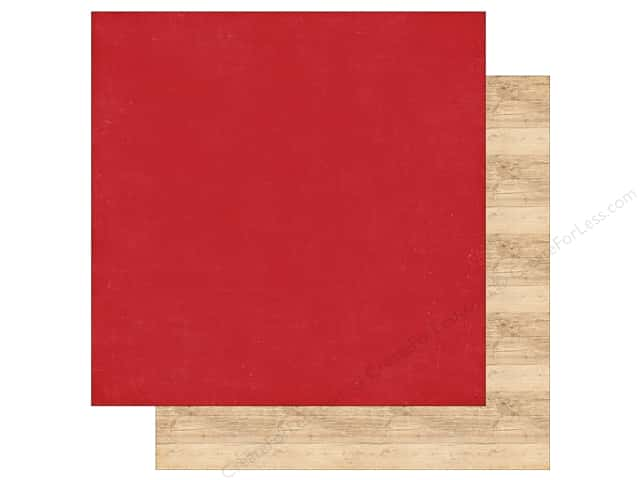 Echo Park 12 x 12 in. Paper I Love Christmas Red/Woodgrain (25 sheets)