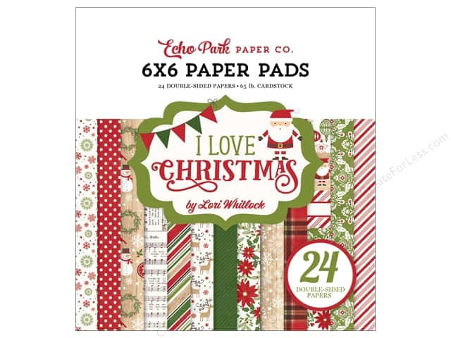 Echo Park 6 x 6 in. Paper Pad I Love Christmas Paper