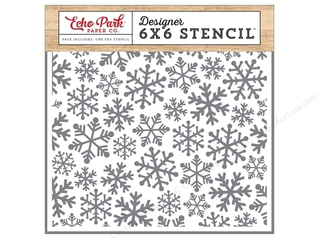 Echo Park Designer Stencil 6 x 6 in. I Love Christmas Snowflakes #4