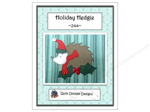 Quilt Doodle Designs Holiday Hedgie Pattern