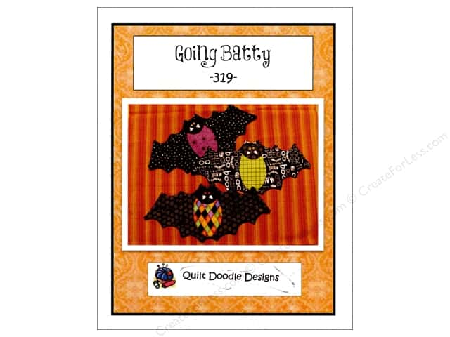 Quilt Doodle Designs Going Batty Mug Mat Pattern