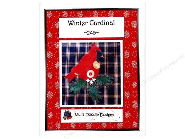 Quilt Doodle Designs Winter Cardinal Pattern