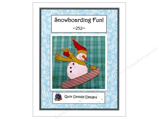 Quilt Doodle Designs Snowboarding Fun! Pattern