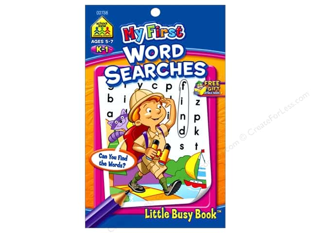 School Zone Little Busy Book My First Word Searches Book