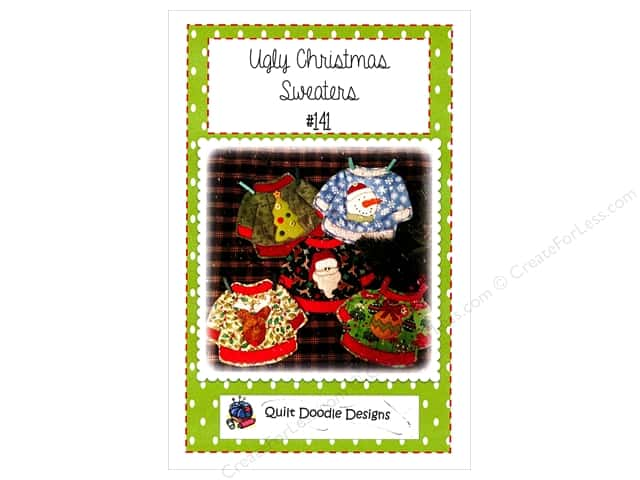 Quilt Doodle Designs Ugly Sweaters Mug Rugs Pattern
