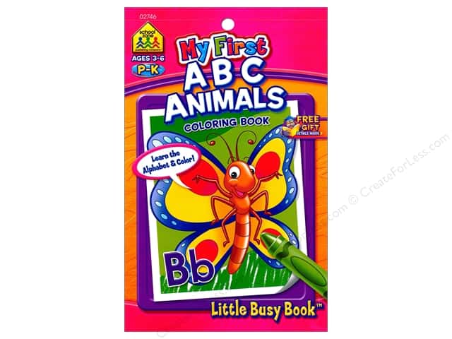 School Zone Little Busy Book My First ABC Animals Coloring Book