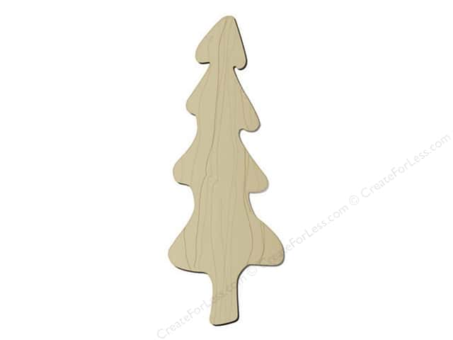 "Darice Wood Shape Unfinished Folkart Tree 6.5"" (12 pieces)"
