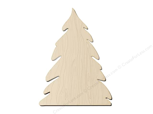 "Darice Wood Shape Unfinished Pine Tree 5""x 6"" (12 pieces)"