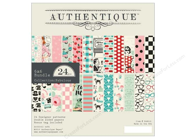 Authentique 6 x 6 in. Paper Bundle Fabulous Collection