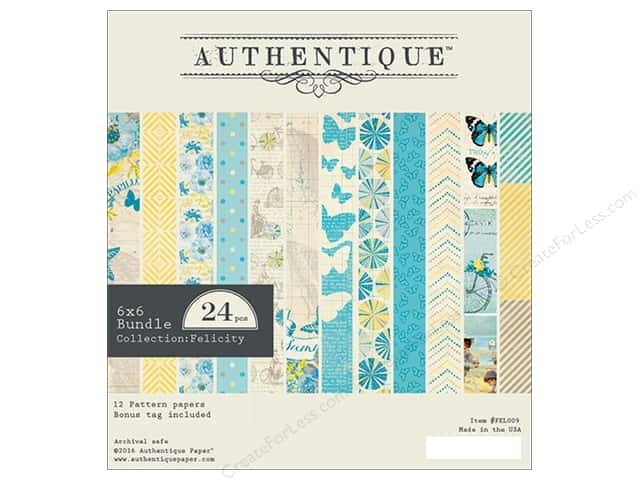 Authentique 6 x 6 in. Paper Bundle Felicity