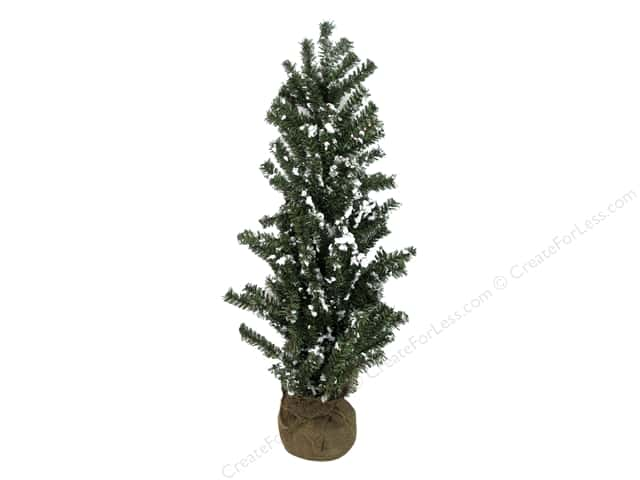 Darice Decor Christmas Tree Gilt Snow Burlap Base 30""