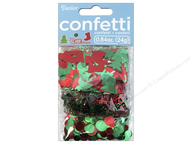 Darice Confetti Pack Christmas Icons .84oz