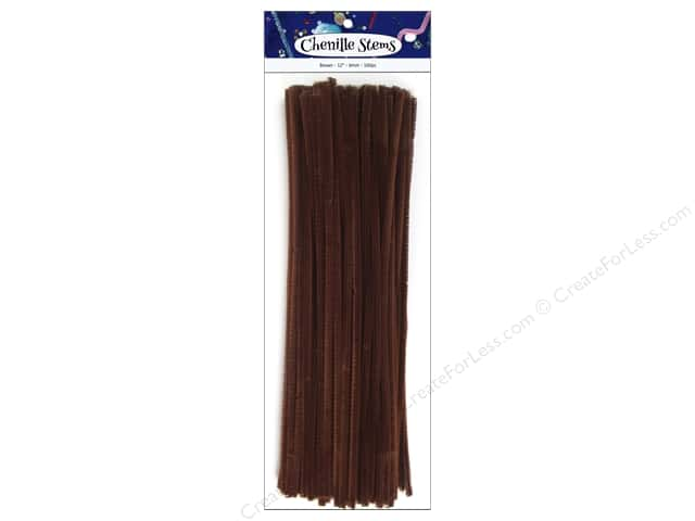 Chenille Stems by Accents Design 6 mm x 12 in. Brown 100 pc.