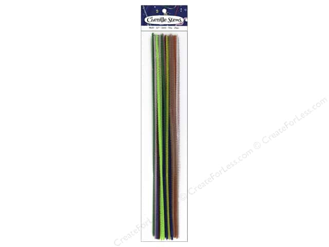 PA Essentials Chenille Stems 3 mm x 12 in. Multi 25 pc.