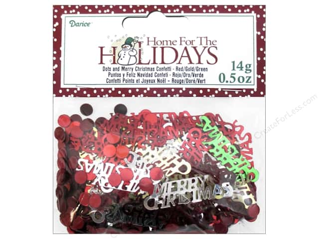 Darice Confetti Pack Holiday Merry Christmas .5oz