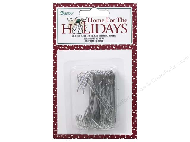 Darice Decor Holiday Christmas Metal Hanger 2.5""
