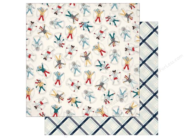 Carta Bella 12 x 12 in. Paper Snow Fun Snow Angels (25 pieces)