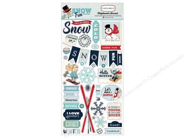 Carta Bella Chipboard Accents Snow Fun
