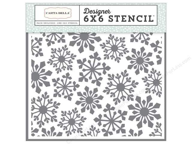 Carta Bella Designer Stencil Snow Fun Pointed Snowflakes