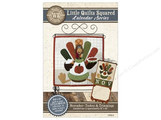 The Wooden Bear Calendar Series Turkey & Trimmings Pattern