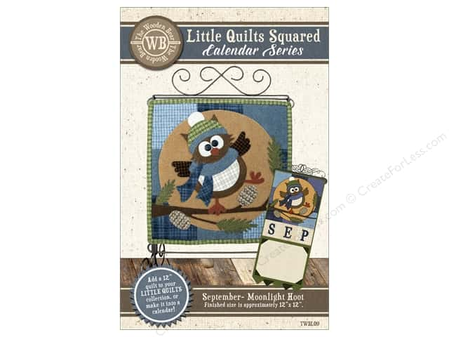 The Wooden Bear Calendar Series Moonlight Hoot Pattern