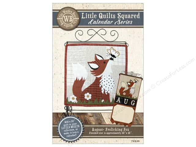The Wooden Bear Calendar Series Frolicking Fox Pattern