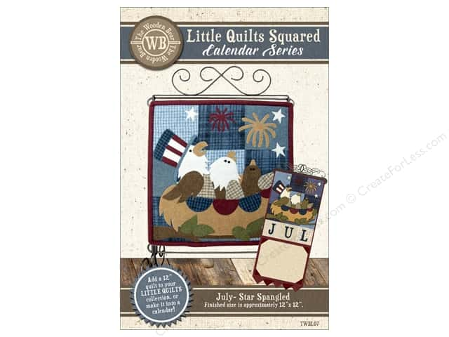 The Wooden Bear Calendar Series Star Spangled Pattern