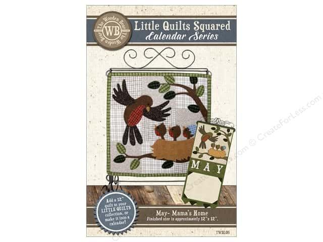 The Wooden Bear Calendar Series Mama's Home Pattern